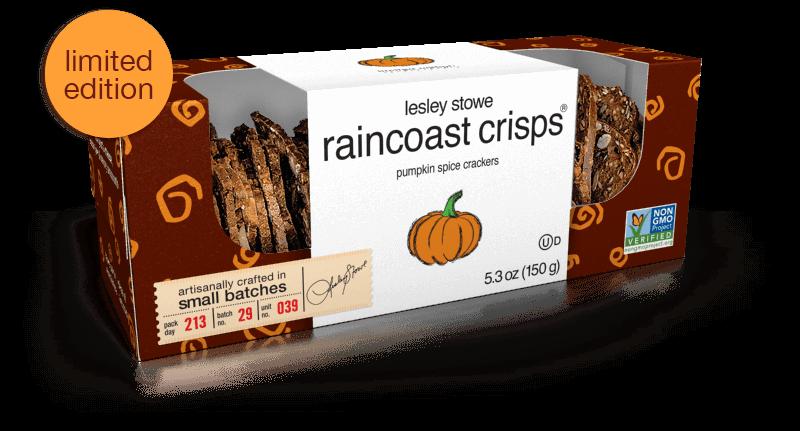 Pumpkin Spice, limited edition lesley stowe raincoast crisps®