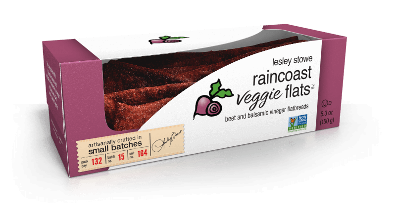 Beet and Balsamic Vinegar, NEW raincoast veggie flats™
