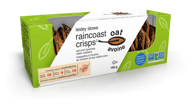 Oat and Rosemary Raisin, lesley stowe raincoast oat crisps™