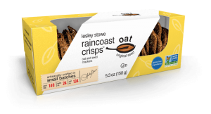 Packaging for lesley stowe raincoast oat crisps™ Oat and Seed