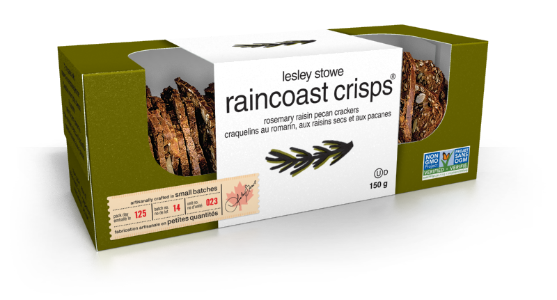 Rosemary Raisin Pecan, lesley stowe raincoast crisps®