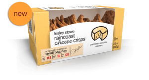 Packaging for Parmesan and Chive, NEW lesley stowe raincoast cheese crisps™