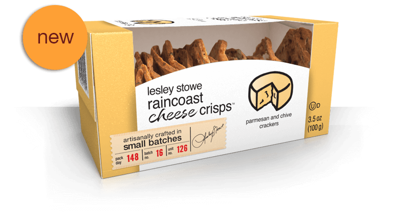 Parmesan and Chive, NEW lesley stowe raincoast cheese crisps™