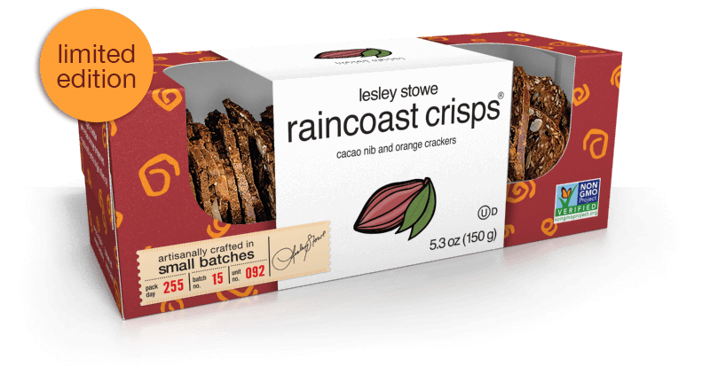 Cacao Nib and Orange, lesley stowe raincoast crisps®