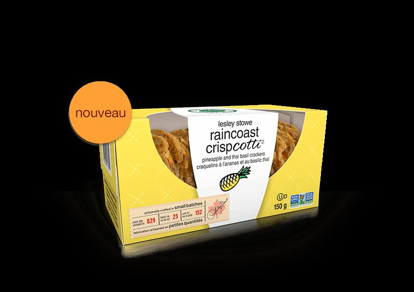 Emballage pournouveaux lesley stowe raincoast crispcotti(MC)