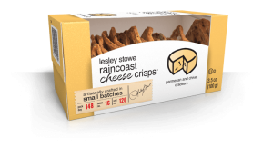 Packaging for Parmesan and Chive, lesley stowe raincoast cheese crisps™