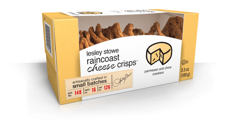 Parmesan and Chive, lesley stowe raincoast cheese crisps™