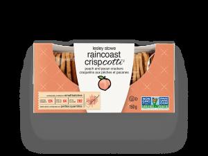 Emballage pour lesley stowe raincoast crispcotti(mc) pêches et pacanes