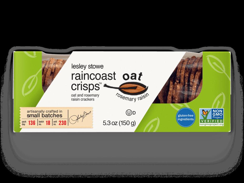 Packaging for  raincoast oat crisps™