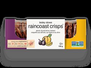Emballage pour lesley stowe raincoast crisps® abricots, figues et citron
