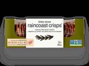 Emballage pour lesley stowe raincoast crisps® romarin, raisins secs et pacanes