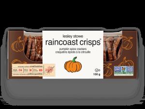 Packaging for  lesley stowe raincoast crisps® pumpkin spice